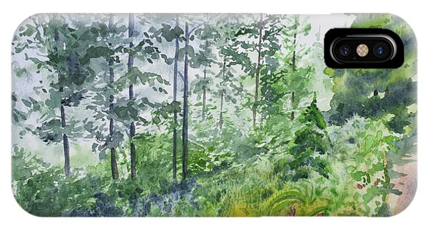 Original Watercolor - Summer Pine Forest IPhone Case