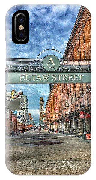 Oriole Park At Camden Yards - Eutaw Street Gate IPhone Case