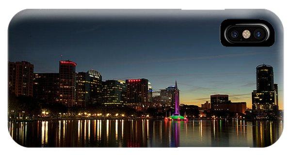 Orlando Beautiful Lake Eola Sunset IPhone Case