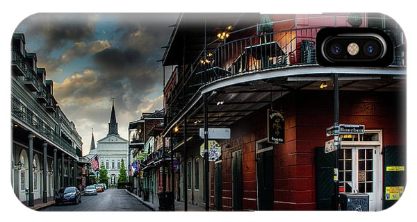 Orleans Street To St Louis Cathedral IPhone Case