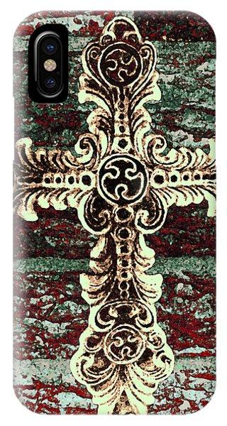 Ornate Cross 1 IPhone Case