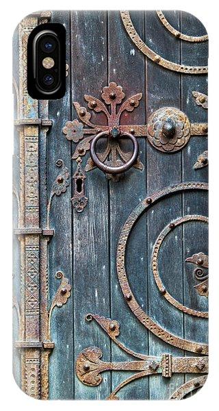 Ironwork iPhone Case - Ornate Gothic Door by Tim Gainey