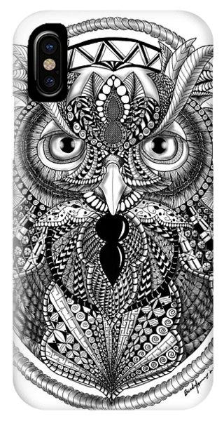 Ornate Owl IPhone Case