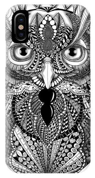 Ornate Owl IPhone Case