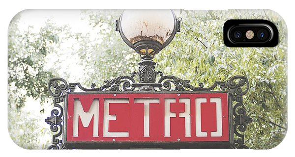 Paris Metro iPhone Case - Ornate Paris Metro Sign by Ivy Ho
