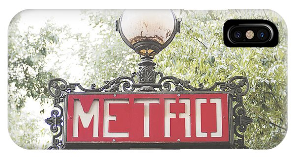 Transportation iPhone Case - Ornate Paris Metro Sign by Ivy Ho