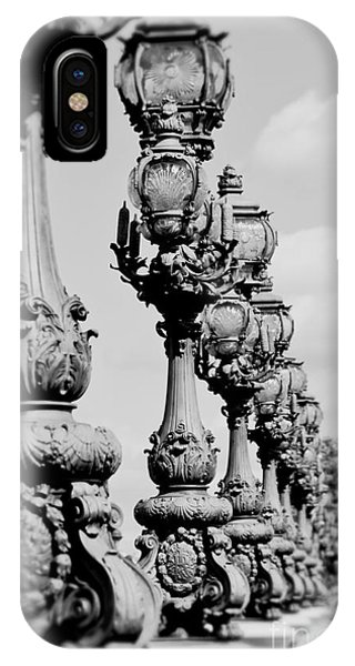 Ornate Paris Street Lamp IPhone Case