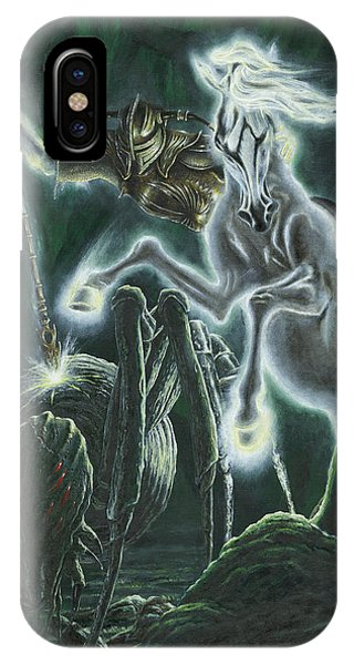 IPhone Case featuring the painting Orome Hunts The Creatures Of Morgoth by Kip Rasmussen