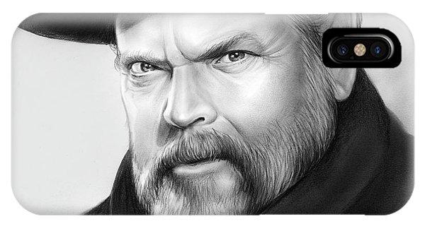 George iPhone Case - Orson Welles by Greg Joens