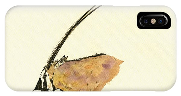 Wild Life iPhone Case - Oryx by Juan  Bosco