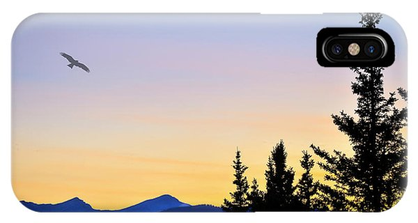 Osprey Against The Sunset IPhone Case