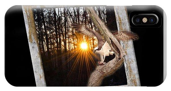 Osprey At Sunset  Black IPhone Case