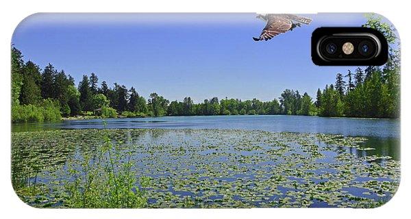 Osprey Fishing At Wapato Lake IPhone Case