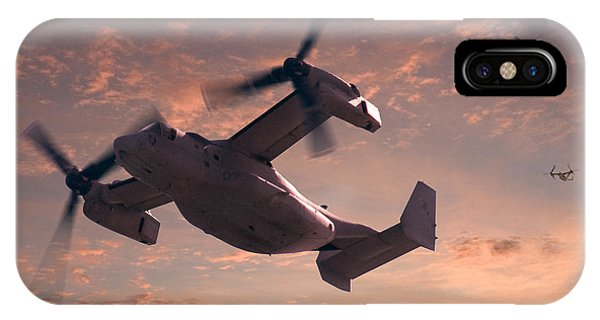Helicopter iPhone X Case - Ospreys In Flight by Mike McGlothlen