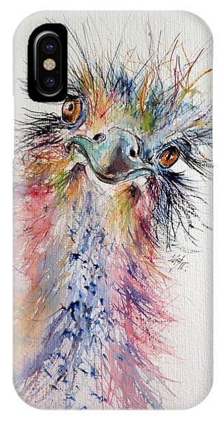 Ostrich iPhone Case - Ostrich by Kovacs Anna Brigitta