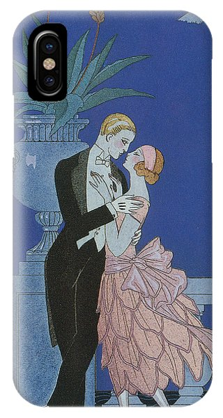 Valentines Day iPhone X Case - Oui by Georges Barbier