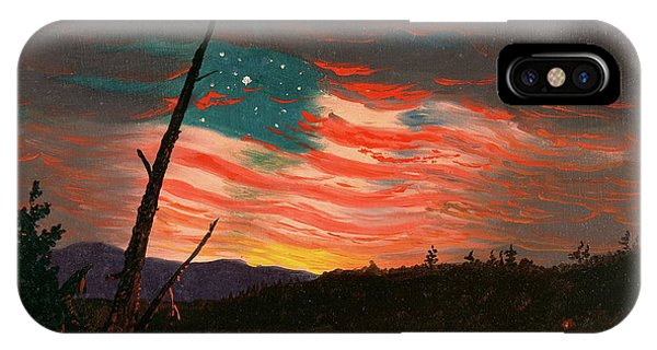 Illusion iPhone Case - Our Banner In Sky by Frederic Edwin Church