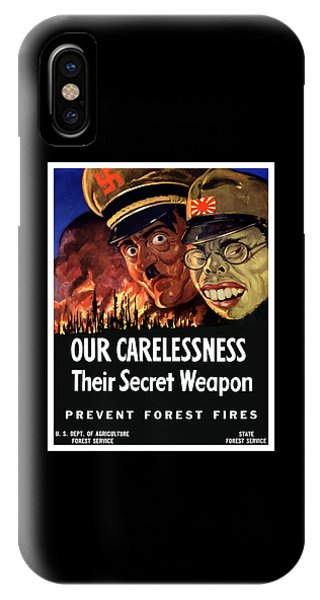 Agriculture iPhone Case - Our Carelessness - Their Secret Weapon by War Is Hell Store