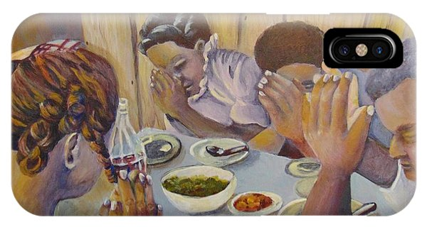 IPhone Case featuring the painting Our Daily Bread by Saundra Johnson