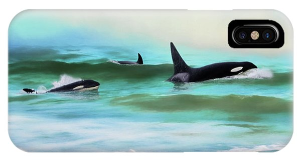 Our Family - Orca Whale Art IPhone Case