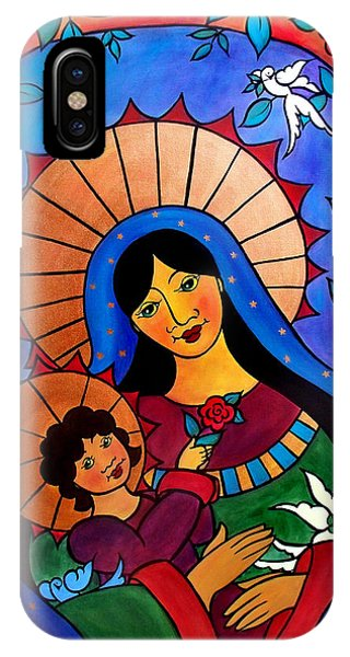 Our Lady Of The Garden IPhone Case