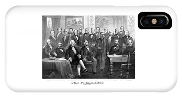George Washington iPhone Case - Our Presidents 1789-1881 by War Is Hell Store