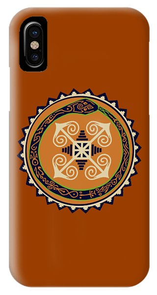 Ouroboros With Devine Fire Wheel IPhone Case