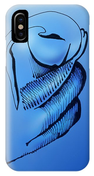 IPhone Case featuring the drawing Out Of The Blue Aventurine by Keith A Link