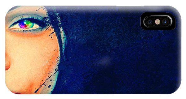 IPhone Case featuring the painting Out Of The Blue by Mark Taylor