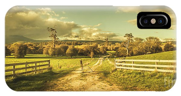 Fence iPhone Case - Outback Country Paddock by Jorgo Photography - Wall Art Gallery