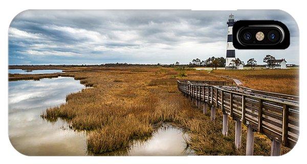 Outer Banks North Carolina Bodie Island Lighthouse Landscape Nc IPhone Case