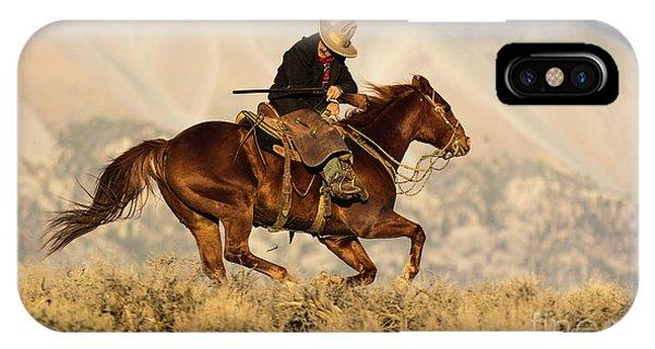 Outlaw Kelly Western Art By Kaylyn Franks IPhone Case