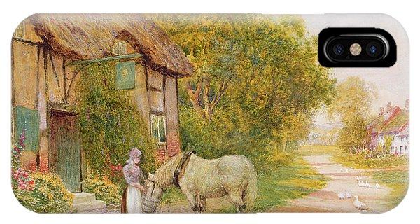 English Village iPhone Case - Outside The Village Inn by Arthur Claude Strachan