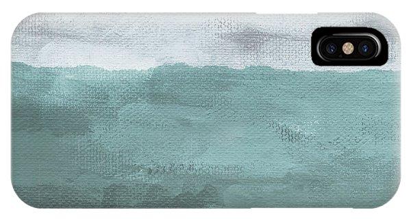 Grey Skies iPhone Case - Overcast- Art By Linda Woods by Linda Woods
