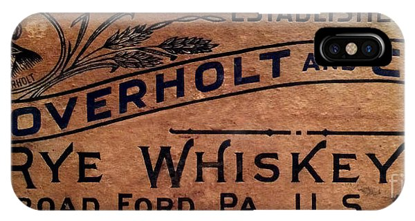 Whiskey iPhone Case - Overholt Rye Whiskey Sign by Jon Neidert