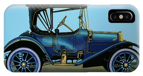 Oldtimer iPhone Case - Overland 1911 Painting by Paul Meijering