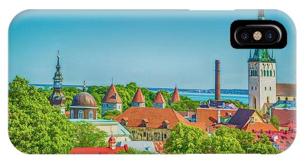 Overlooking Tallinn IPhone Case
