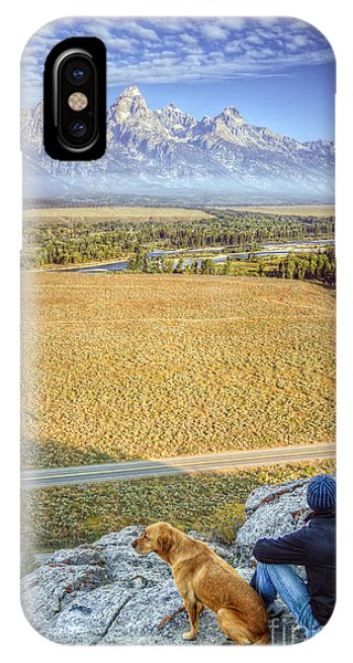 Teton iPhone Case - Overlooking The Grand Tetons Jackson Hole by Dustin K Ryan
