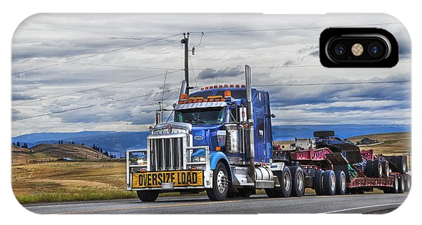 Trucking iPhone Case - Oversize Load by Theresa Tahara