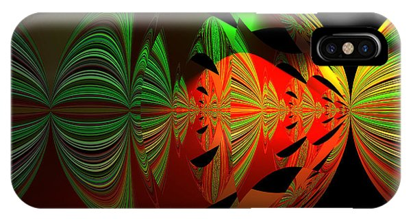Art Green, Red, Black IPhone Case