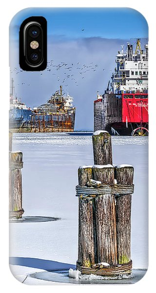 Owen Sound Winter Harbour Study #4 IPhone Case