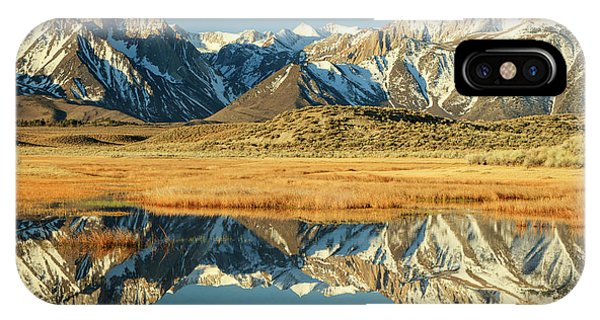 Sierra Nevada iPhone Case - Owens Valley Reflections by Johnny Adolphson