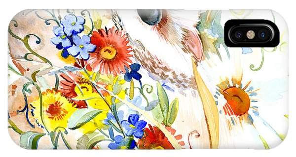 Owl And Flowers IPhone Case