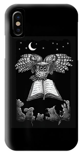 Owl And Friends Blackwhite IPhone Case