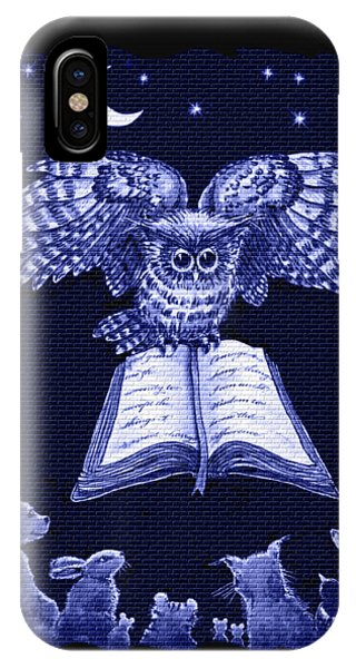 Owl And Friends Indigo Blue IPhone Case
