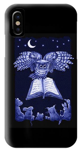 Owl And Friends Indigo Blue IPhone Case