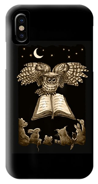 Owl And Friends Sepia IPhone Case