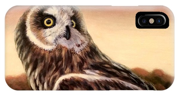 Owl At Sunset IPhone Case