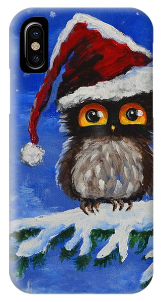 Owl Be Home For Christmas IPhone Case