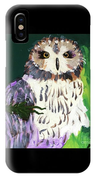 Owl Behind A Tree IPhone Case